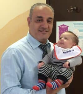 Samuel-Botros, MD with baby